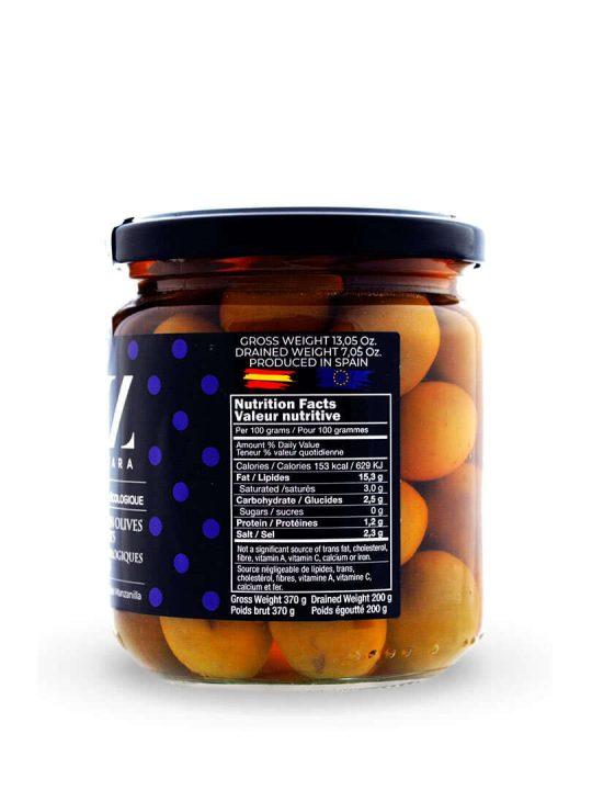 Aceitunas Variedad Manzanilla ECO Oleazara lateral
