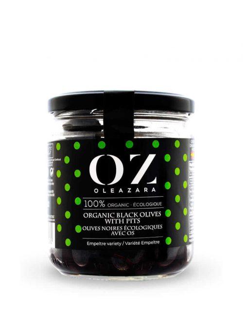 Aceitunas Negras de Aragón Variedad Empeltre ECO de Oleazara frontal