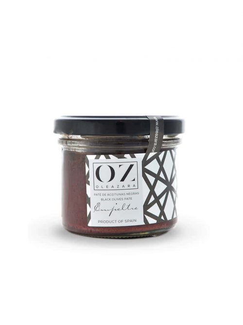 Paté de Aceitunas Negras de Aragón o Tapenade Oleazara frontal