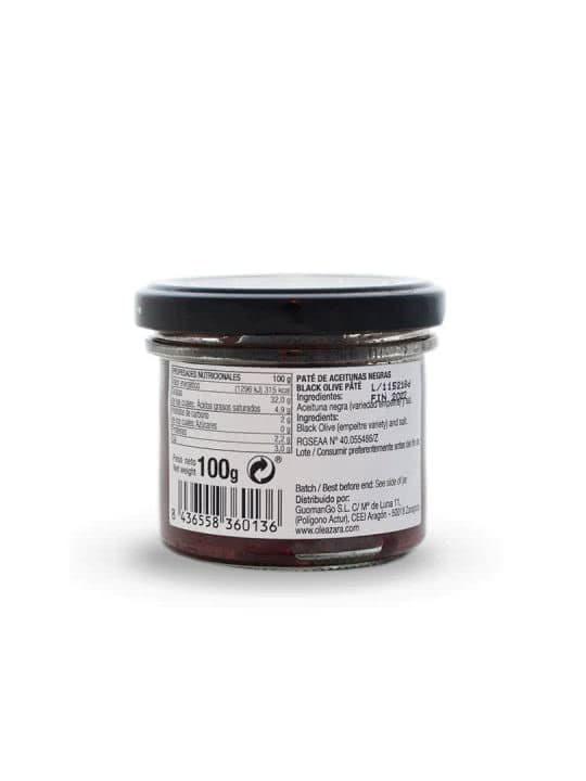 Paté de Aceitunas Negras de Aragón o Tapenade Oleazara trasera