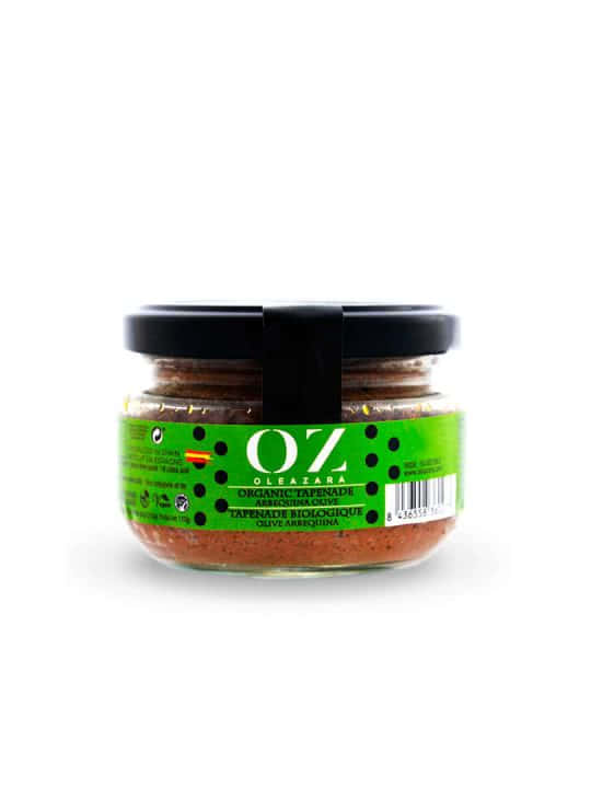 Paté de Aceitunas Verdes ECO variedad Arbequina de Oleazara frontal