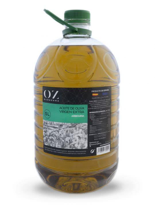 Garrafa AOVE Arbequina 5L Oleazara frontal